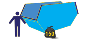 16 cubic yard maxi skip